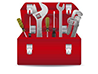 up-illustration-of-tools-with-a-pipe-wrenches-hammer-screwdrivers-and-tool-box-illustration